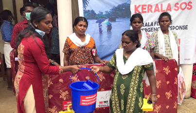 Relief efforts by Care Today Fund partner ActionAid in Pandanadu, Alappuzah Dist