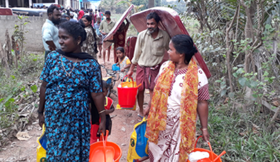Flood survivors in Idukki district receives relief kits from the Care Today Fund
